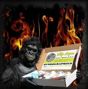 16oz DIP APE REALISTIC FLAMES HYDROGRAPHIC WATER TRANSFER HYDRO DIP DIPPING KIT