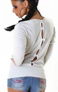 purchase cheap b7532 b12f1 Trendy Damen Pulli Rücken Schleifen Feinstrick Pullover ...