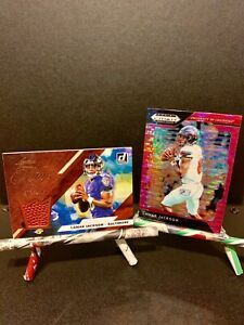 Lamar-Jackson-Card-Lot-2019-Leather-Kings-199-amp-2019-Prizm-Draft-Pink-Pulsar