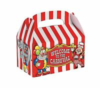 Fun Express Under The Big Top Empty Favor Boxes Party Accessory... Free Shipping