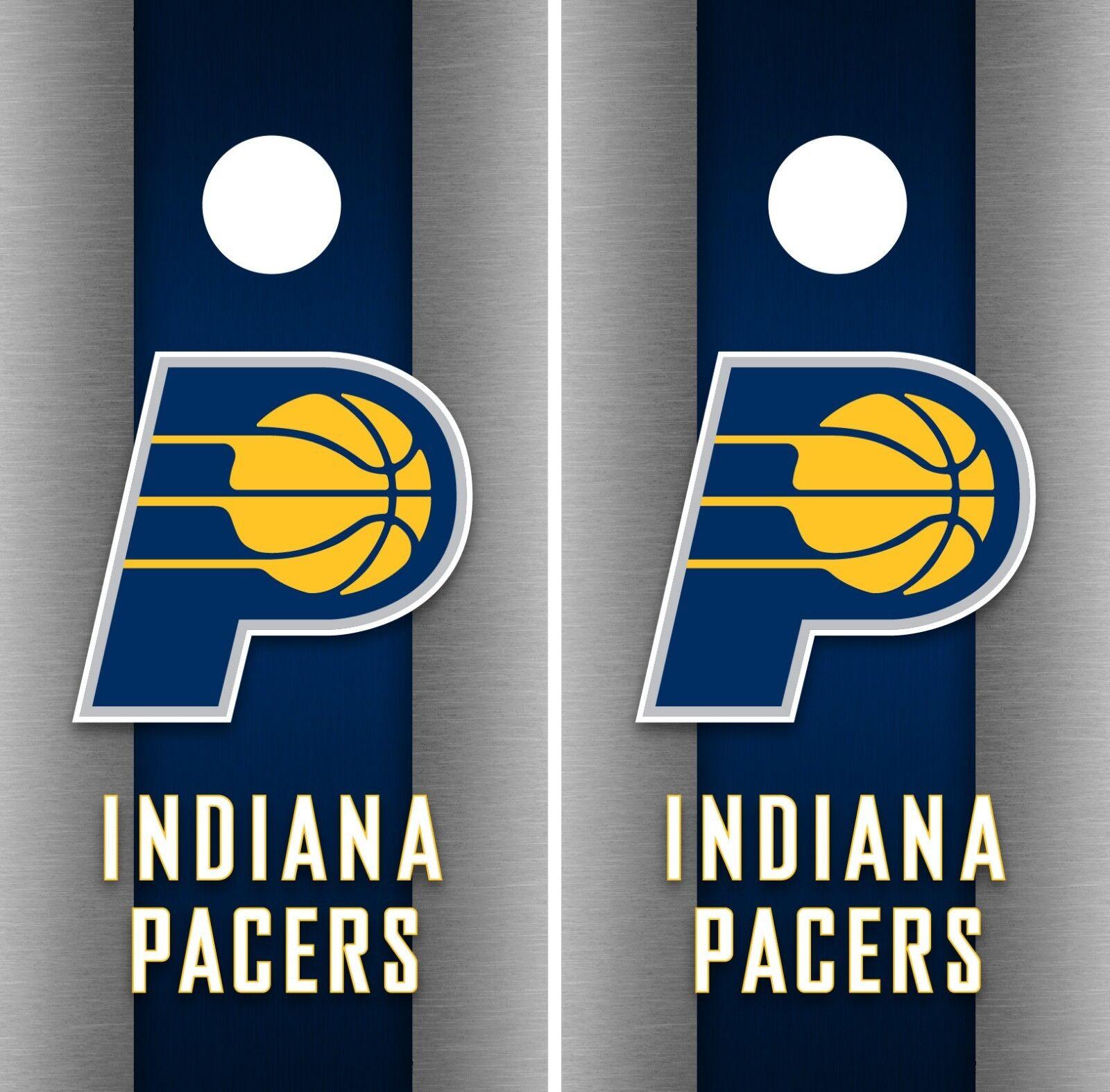 Indiana Pacers Cornhole Wrap NBA Game Board Skin Set Vinyl Decal Decor CO622