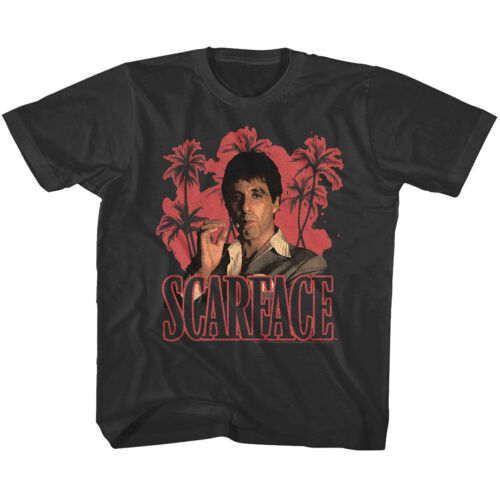 Scarface Tropical Miami Palms Tony Montana Kids T Shirt Cuban Boy Girl Youth Top