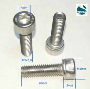 Qty 50 Button Head Socket M5 x 20mm Stainless Steel 304 Screw Bolt Allen 5mm