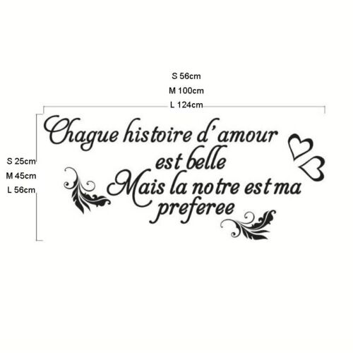 Quotes French Style Wall Stickers Personality Wall Decals Living Room Bedroom