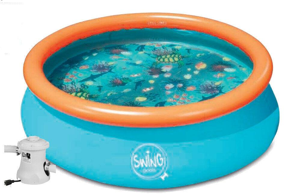 3D QUICK Up Pool 3 05x0 76 m Schwimmbad Pool Planschbecken Kartuschenfilter