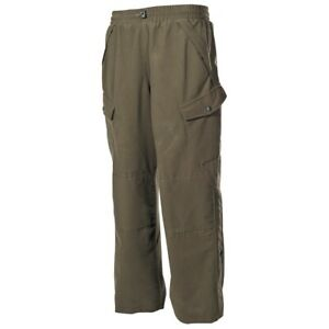 NUOVO-US-IMPERMEABILE-outdoorhose-Poly-TRICOT-Verde-Oliva-INSERTO-Cargo-PANTALONE-s-2xl