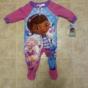 7b7ea01dfc8c Disney Infants 12(M) Girls Doc Mc Stuffins Fleece Sleeper Footed Pjs ...