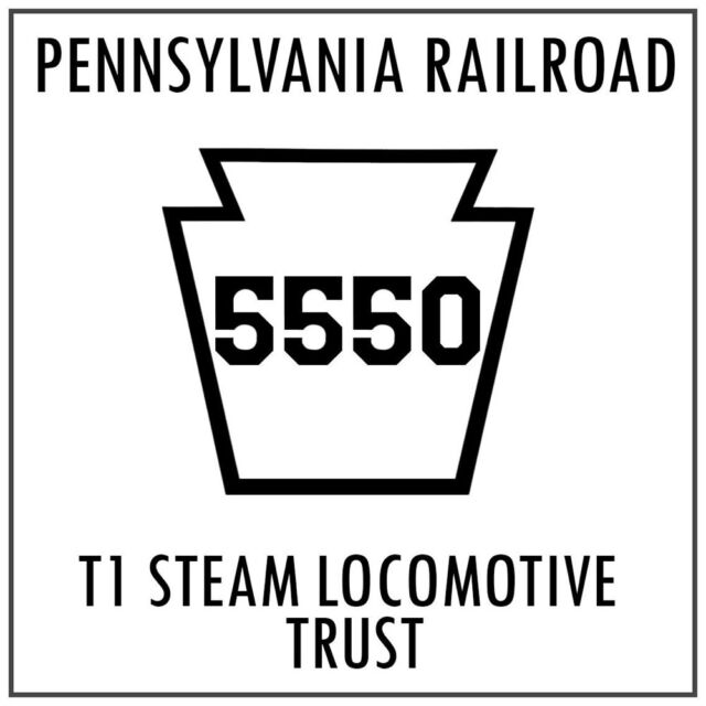 The Official 5550 Patch of The Pennsylvania Railroad T1 Steam Locomotive  Trust
