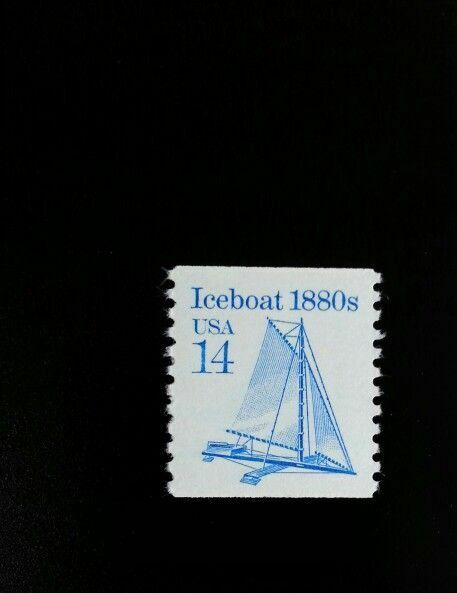 1985 14c Iceboat, Coil Scott 2134 Mint F/VF NH