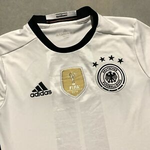 Details about Adidas Germany Soccer Jersey FIFA World Champions 2014 Deutscher Youth Large