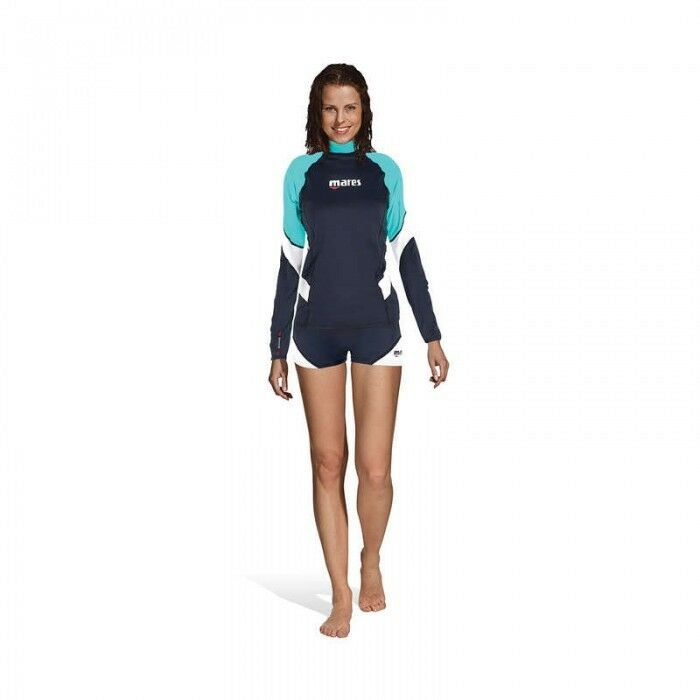 Mares Rash Vest Loose Fit Long Sleeve Ladies Size XXS-XXL Aqua or Purple