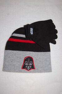 Beanie and Gloves Set Black /& Red NWT Boy/'s Star Wars Darth Vader Hat