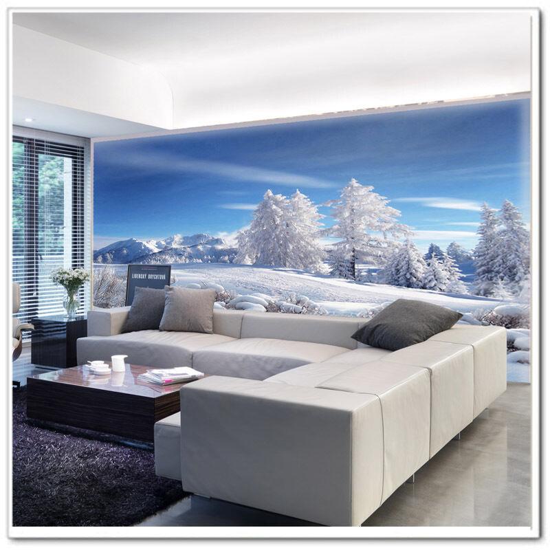 3D Arbre Neige 676 Photo Papier Peint en Autocollant Murale Plafond Chambre Art