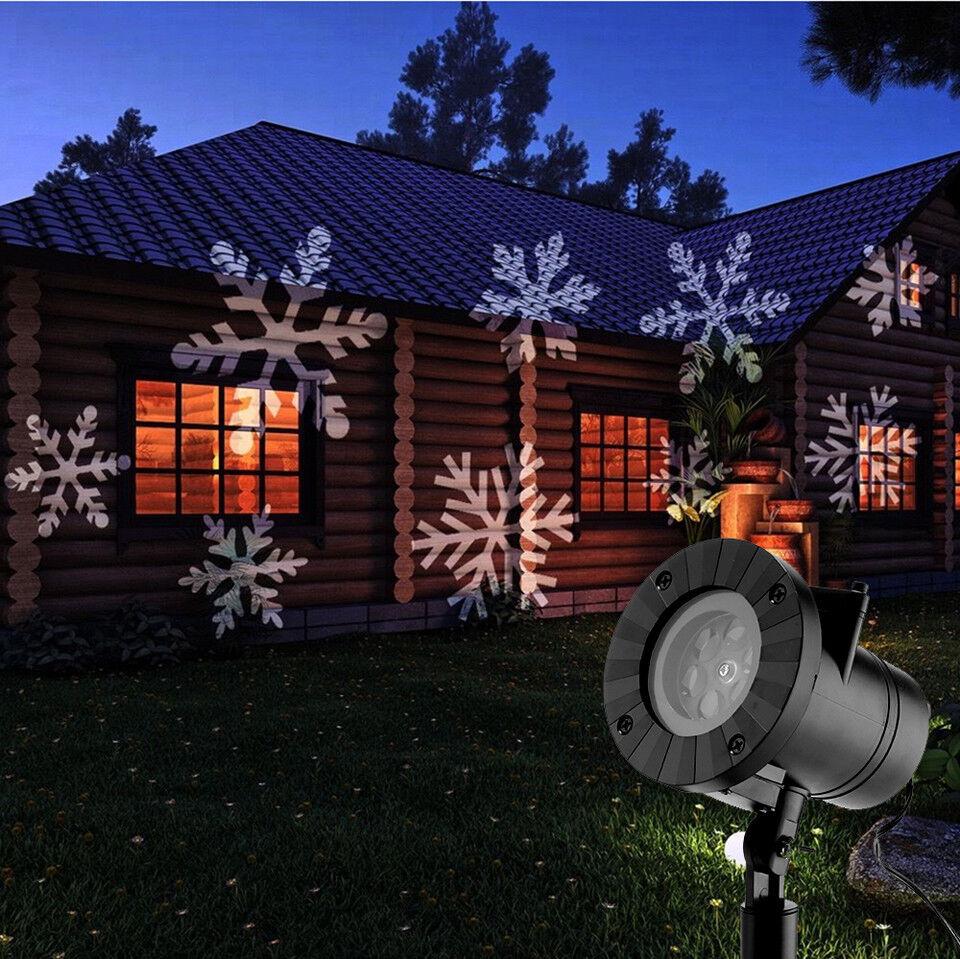 Outdoor Laser Snowflake Light Garden Decor