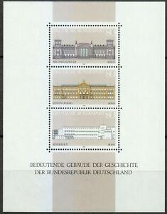 Germany-1986-MNH-Mi-Block-20-Sc-1466-Historic-buildings-Reichstag-Berlin