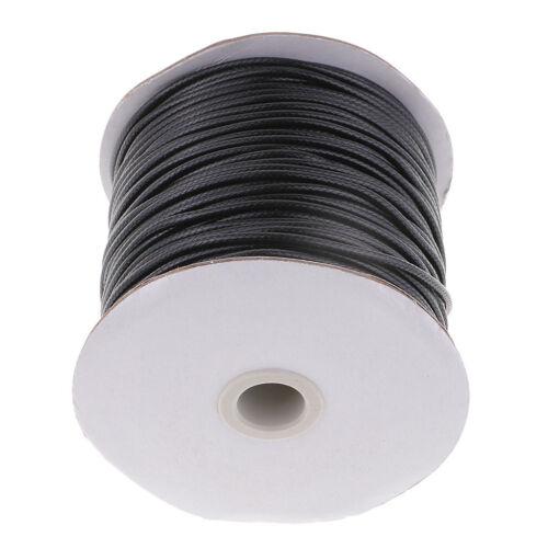 1 Rolle 2,5 mm gewachste Baumwollkordel Faden Tanga Cord Schmuck machen