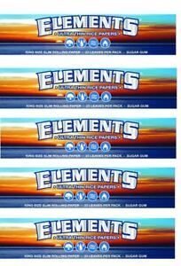 Elements-King-Size-Slim-Ultra-Thin-Rice-Rolling-Paper-5-Packs-165-leaves