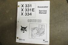 Bobcat 331 331e 334 Excavator Repair Amp Service Manual