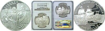 2007-P JAMESTOWN SILVER COMMEMORATIVE S$1 NGC MS70
