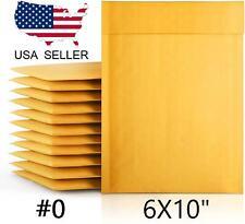 6x10 Kraft Bubble Mailer Self Seal Padded Envelope 0 6x9 10 25 50 100