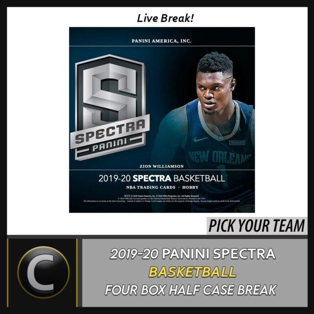 2019-20 PANINI SPECTRA BASKETBALL 4 BOX (HALF CASE) BREAK #B432 - PICK YOUR TEAM