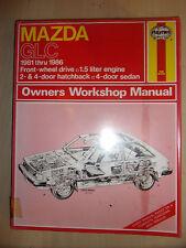 MAZDA GLC 1.5L 1500 FWD HAYNES WORKSHOP REPAIR MANUAL 1981-1986 81-86