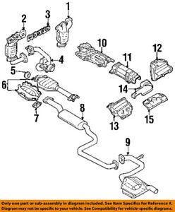 s l300 mercury ford oem 99 02 cougar 2 5l v6 exhaust catalytic cnvrtr
