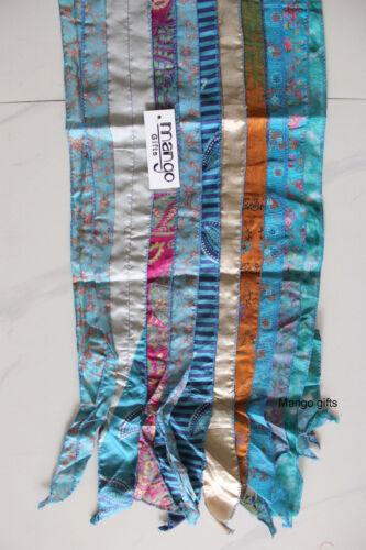 Vintage Silk Sari Recycled Scarves Stoles Patchwork scarf Wholesale Lot 50 Pcs