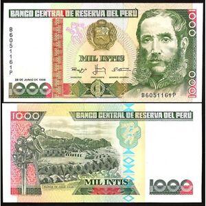 Peru 1000 Intis 1988 Unc P 136 B Okduaknz-07224755-665071939
