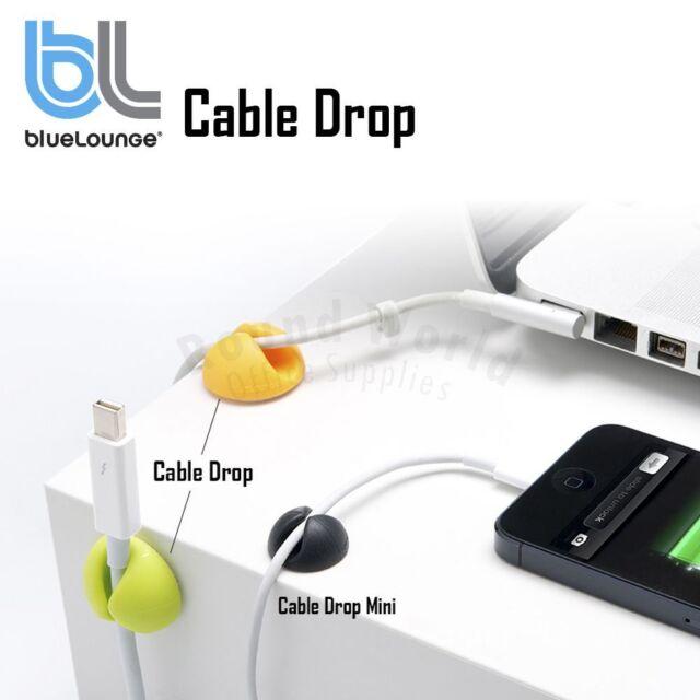 BlueLounge Cable Drop Cord Holder Mini Organizer Management Solution Sticker