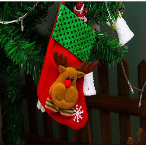 Christmas Santa Socks Tree Hanging Ornaments Festival Party Cute Decoration