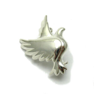 Sterling-Silver-Brooch-Dove-Genuine-Solid-Hallmarked-925-Nickel-Free-Handmade