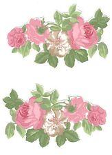 6 LAURA ASHLEY Rose Wallpaper DECOUPAGE PIECES furniture craft pretty scrapbook