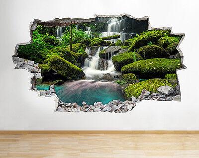 Autocollants Muraux Fleurs Jardin nature cuisine Smashed Decal 3D Art Vinyle Pièce C604
