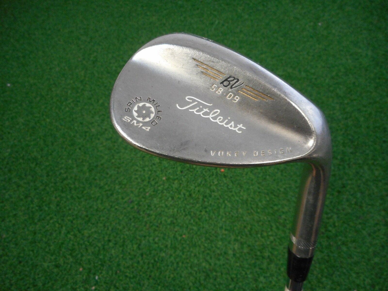 TITLEIST VOKEY SM4 58.09 LOB WEDGE N.S. PRO REGULAR FLEX STEEL USED RH