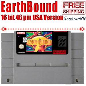 Details about EarthBound Game Cartridge For Nintendo Super Snes NTSC USA  Version 16 Bit Tested