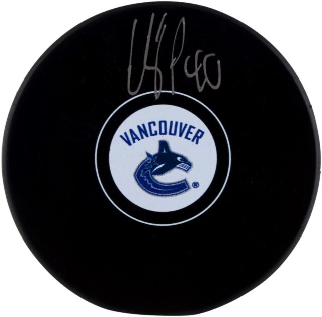Elias Pettersson Vancouver Canucks Autographed Hockey Puck