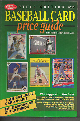 1991 Sports Collectors Digest Baseball Card Price Guide 5 735 Pages Mint L At At K Ebay