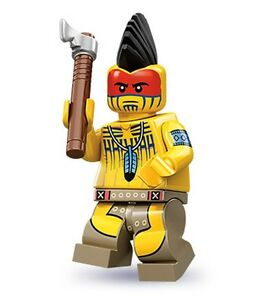 Lego-minifig-series-10-Indian-Warrior-tomahawk-mohawk-suit-wild-west-cowboy-sets