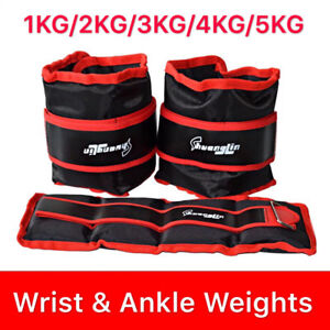 1-2-3-4-5-KG-Adjustable-Ankle-Wrist-Leg-Weights-Training-Fitness-Gym-Sandbag