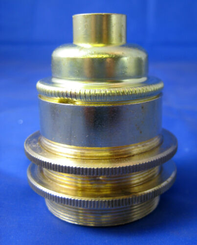 Large Edison screw E27 bulb holder with shade rings