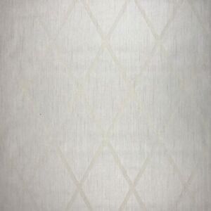Flocking wallpaper ivory beige textured geometric flocked diamond modern roll 3d ebay - Cream flock wallpaper ...