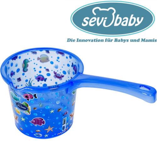 Sevibaby BLAU Baby Bade Tasse für Badewanne Kelle Krug Spülen Dusche Becher 177