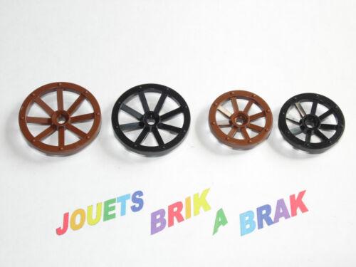 Lot lego roues charrette Wheel Spoked 33 ou 27 mm ref 4489 ou 2470 choose model