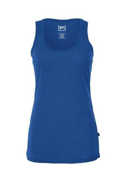 Neu super.natural W base layer tank 140 blau XS supernatural shirt tanktop