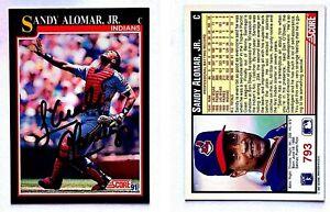 Sandy-Alomar-Jr-Signed-1991-Score-793-Card-Cleveland-Indians-Auto-Autograph