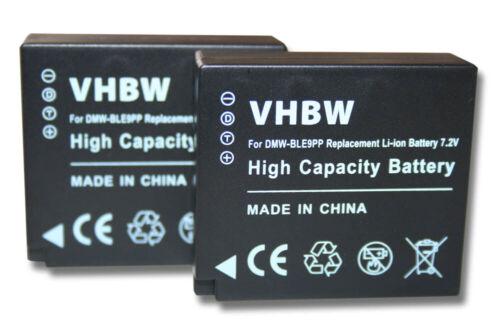 2x Batería para Leica D-Lux Typ109 BP-DC15