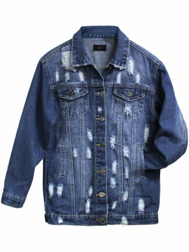 Girls Denim Jacket Blue Jean Jackets Longline Age 7 8 9 10 12 14 16 Years