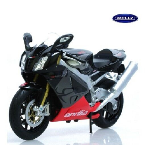 Welly Aprilia RSV 1000R 1/10 Black Diecast Motorcycle Model