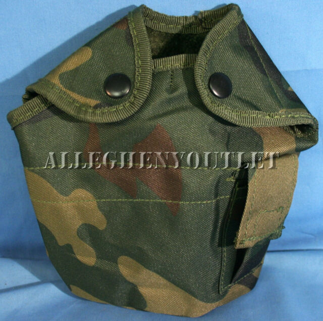 Military Type 1 QT CANTEEN COVER / POUCH LC-2 Alice WOODLAND CAMO NEW